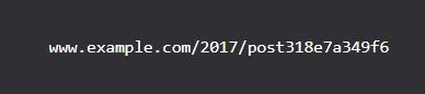 沒有意義的網址格式